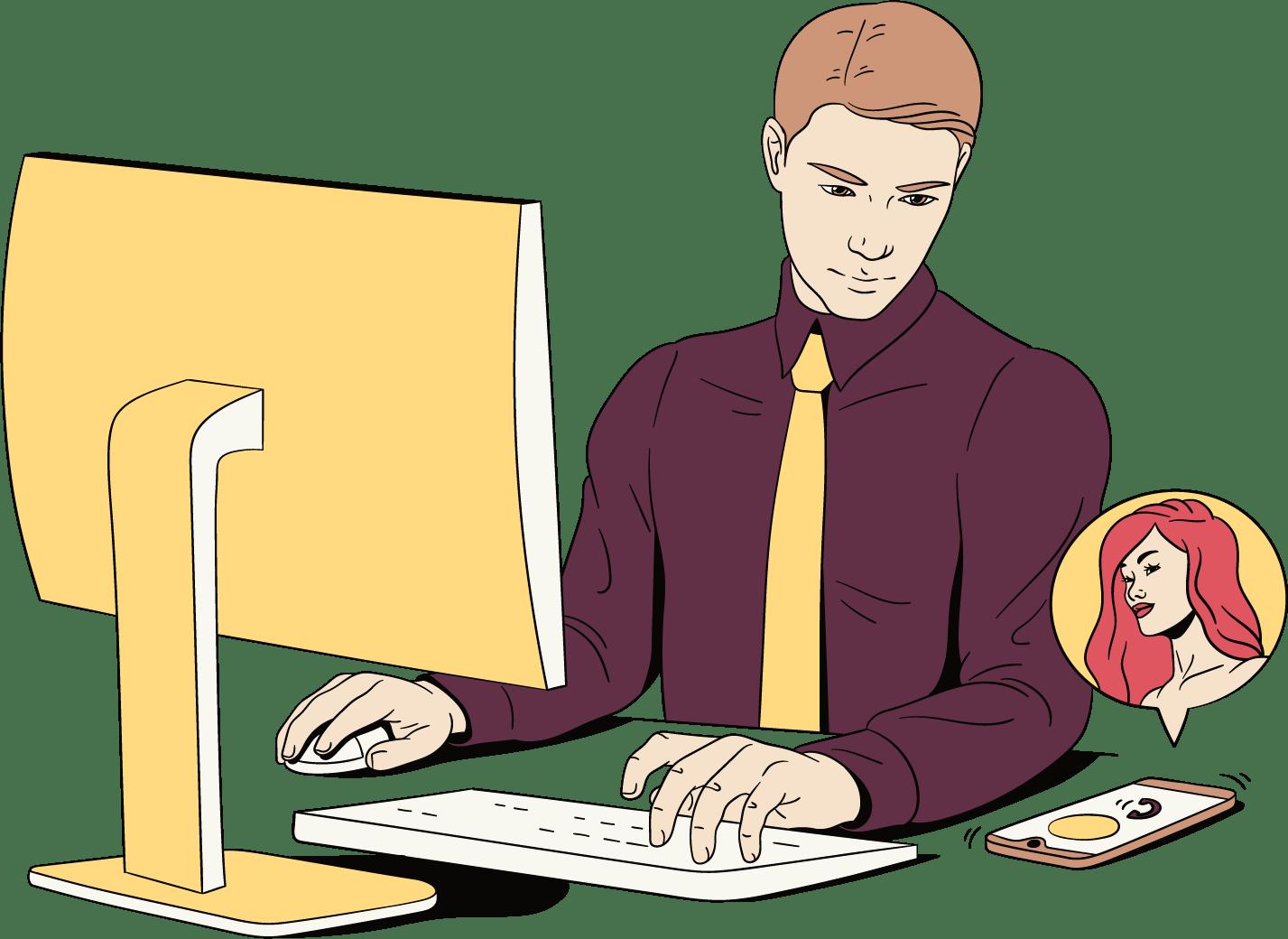 L'homme est occupé par le travail et ne contrôle donc rien par lui-même
