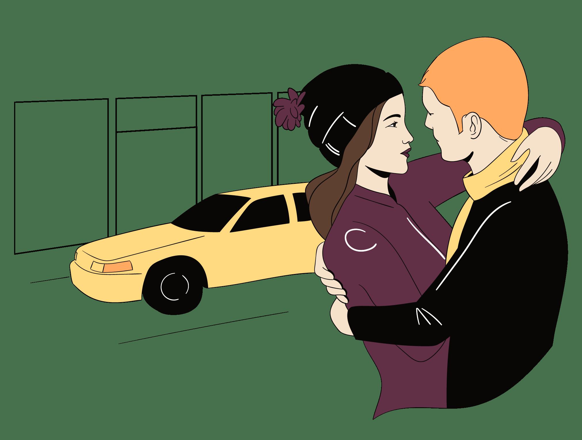Le mari et la femme sont amoureux