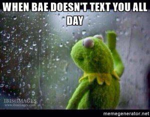 Quand le mal ne vous envoie pas de SMS toute la journée