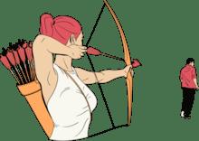 Femme-obtient-son-ex-dos-avec-arc-et-flèche-1